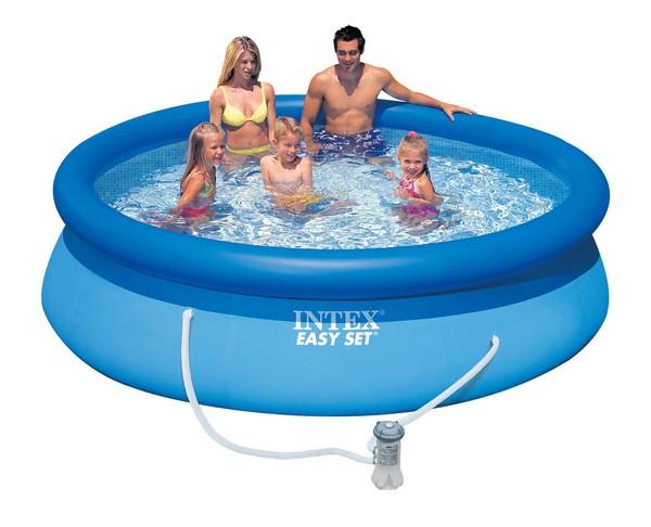 Intex 305x76cm puhafalú medence szett 1250l/h vízforgatóval 28122