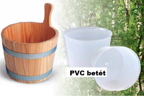 PVC betét 5 literes standard szauna fadézsához F8981