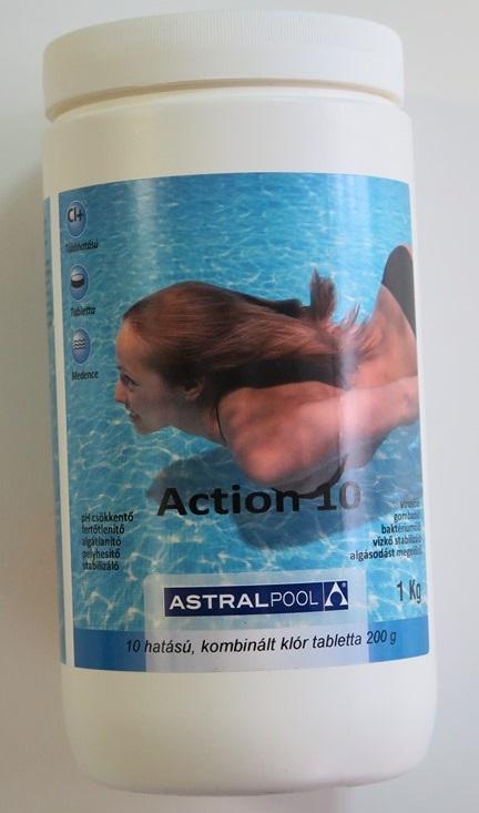 AstralPool Action 10 funkciós uszoda vegyszer 1kg 25319