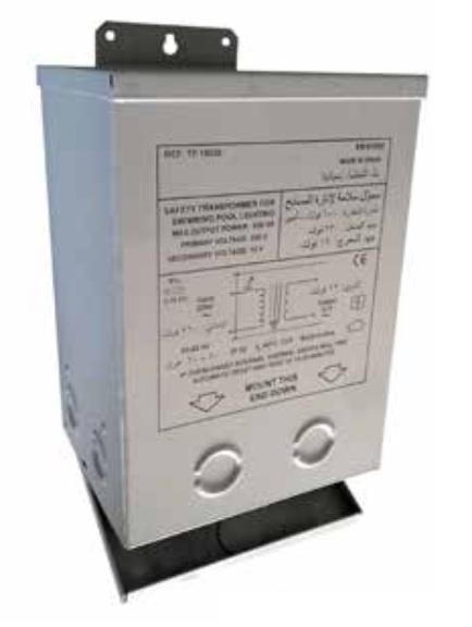 Transzformátor fémházban medence világításhoz AC 230V / AC 12V 600W 600VA REF 865