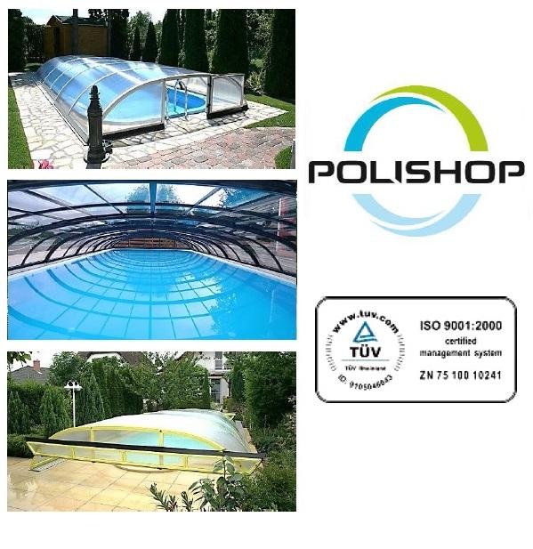 POLISHOP Comet 10mm polikarbonát medencefedés 6m x 3m-es medencére, 80cm magas, szállítással és telepítéssel