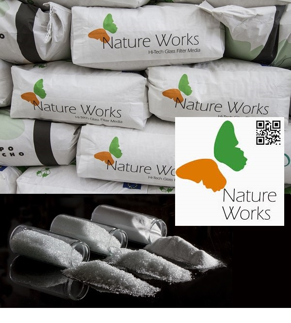 Nature Works szűrőüveg 20kg 0,4-1mm Stage-2 AS-033102