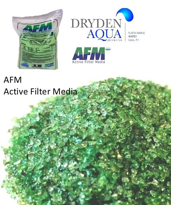 USH-A0205 Dryden Aqua AFM-0 aktivált zöldüveg szűrőtöltet homokszűrőhöz 0,2-0,5mm szemcseméret 21kg