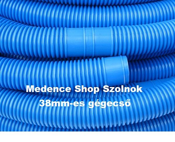 Gégecső 38mm-es kék színű (kínai) 1,5m/1tag T908C