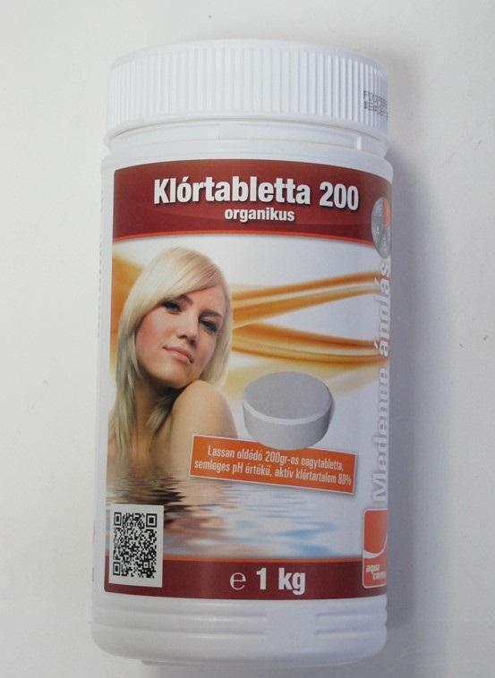 Aquacorrect lassan oldodó 90%-os klórtabletta (200g) 1kg AS-150031