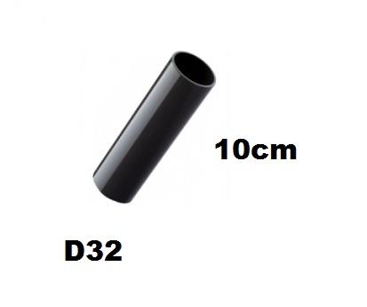 32mm-es PVC cső 10cm-es, gégecső toldáshoz