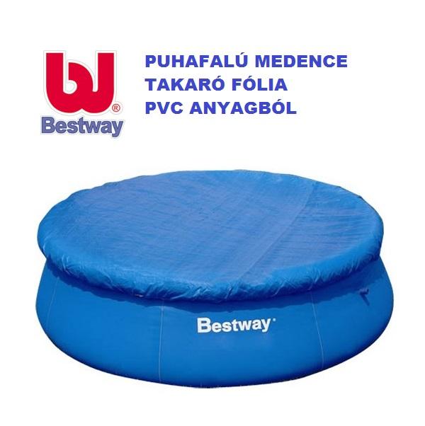 Bestway puhafalú medence takaró 457cm átmérőre 58035