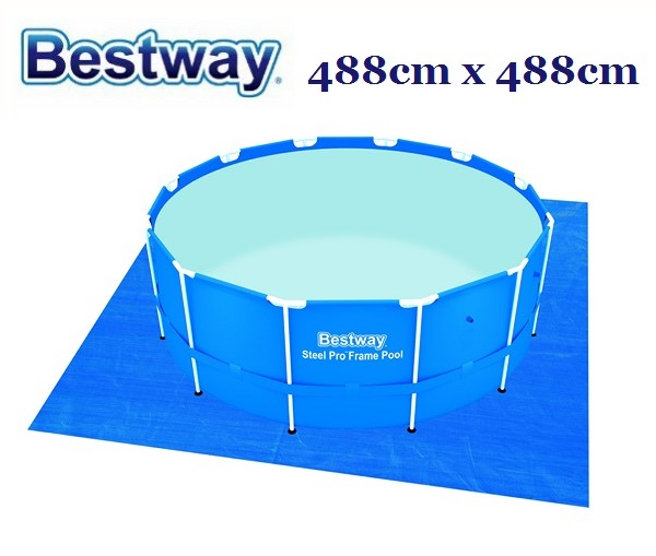 Bestway talajtakaró fólia 488cm x 488cm BW 58003