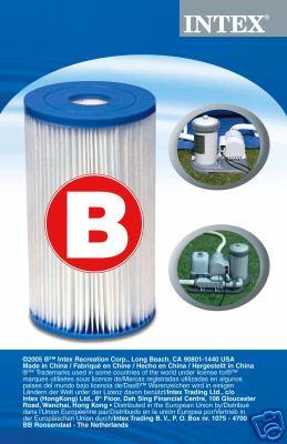 Intex papír szűrőbetét B típusú 29005 (ÓRIÁS SZŰRŐBETÉT)