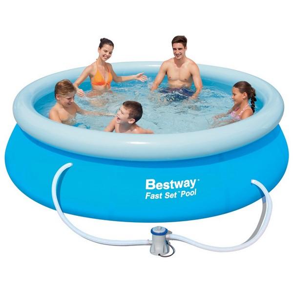 Bestway 305x76cm puhafalú medence 1,25m3/h vízforgatóval BW 57270