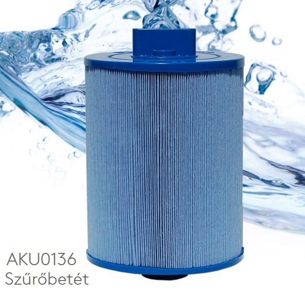 Wellis Pleatco AKU0136 jakuzzi szűrőbetét sűrű menetes véggel