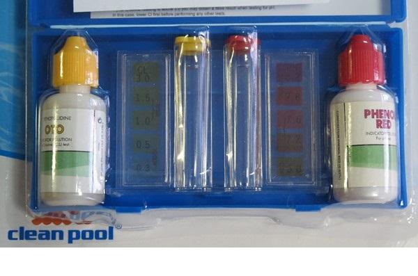 Folyadékos vízelemző készlet pH és klór méréshez TVP Clean Pool