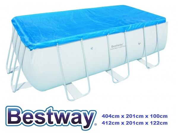 Bestway 404x201x100cm csővázas medencére takaró fólia BW 58232