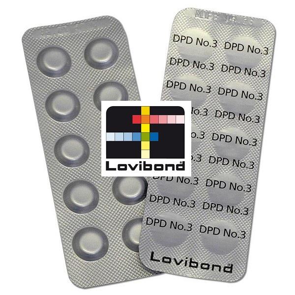 Tablettás vízelemző készlethez DPD 3 reagens tabletta Lovibond (1levél/10db)