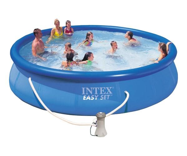 Intex 457x84cm puhafalú medence 2m3/h vízforgatóval 28158NP