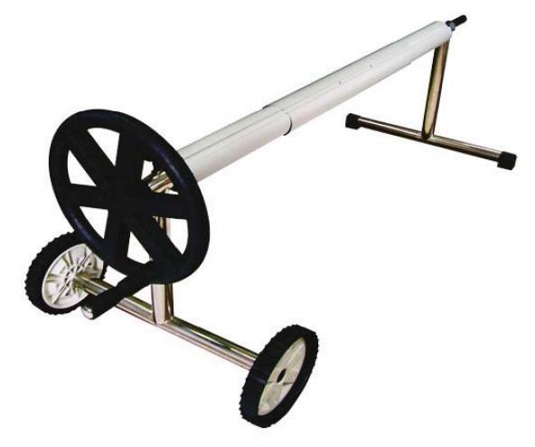 Mobil szolár fólia tekercselő inox lábbal 4m-5,6m-ig 82mm átmérő AS-171006