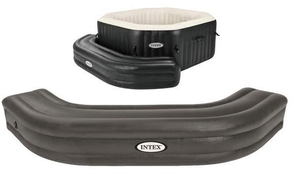 Intex szögletes jaccuzihoz dobogó barna színben 28509