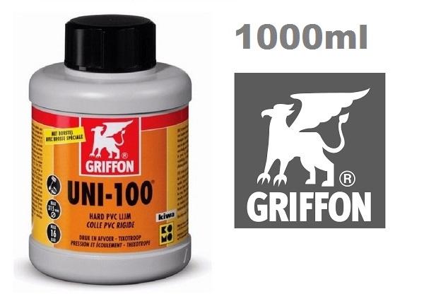 Griffon UNI-100 ragasztó kemény PVC-hez 1000ml AS-089110