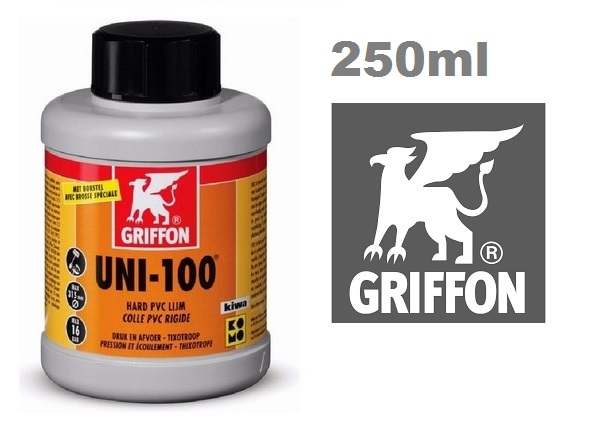 Griffon UNI-100 ragasztó kemény PVC-hez 250ml AS-089102