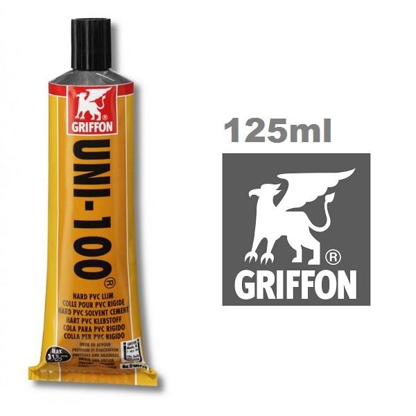 Griffon UNI-100 ragasztó kemény PVC-hez 125ml AS-089101