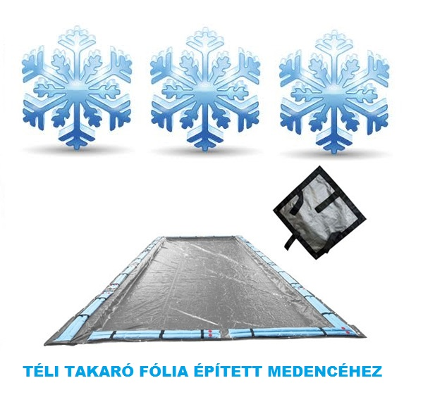 Silverado téli medence takaró fólia 4,8m x 8,8m (6m x 3m mérethez) AS-173106
