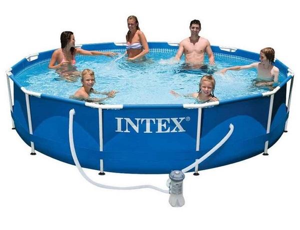 Intex 366x76cm fémvázas medence 2m3/h vízforgatóval 28212 NP