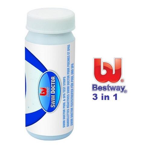 Bestway vízelemző teszter pH Cl Ta 50db tesztcsík  58142