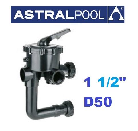 """AstralPool oldal szelepes szűrőtartályokhoz váltószelep 1 1/2"""" AP-00599"""