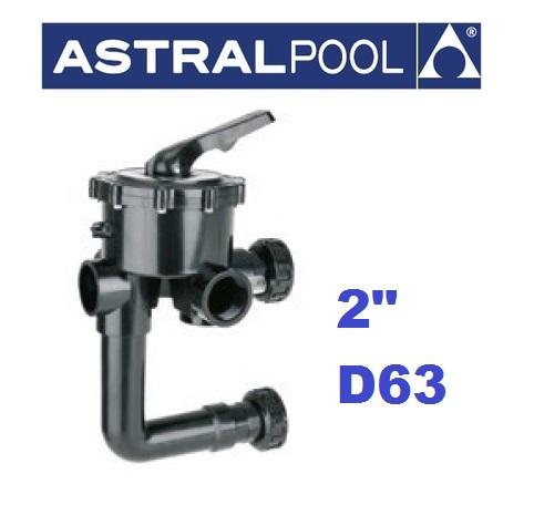 """AstralPool oldal szelepes szűrőtartályokhoz váltószelep 2""""  AP-07444"""