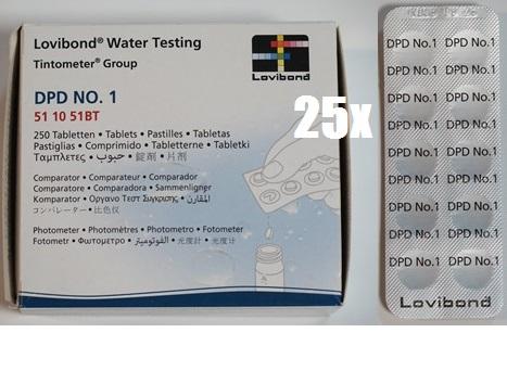 Tablettás vízelemző készlethez DPD 1 reagens tabletta Lovibond (1doboz/250db tabletta)