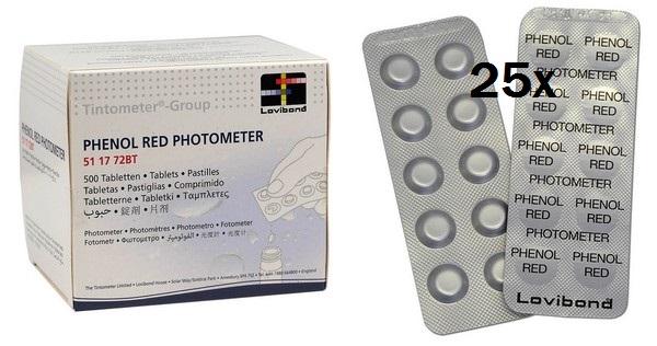 Lovibond fotóméter műszerhez 250db Phenol Red tabletta a pH méréséhez AS-03019