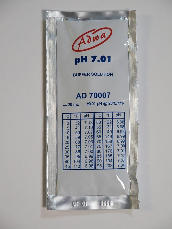 Kalibráló oldat 7.01 pH értékre 20ml ADWA AD70007