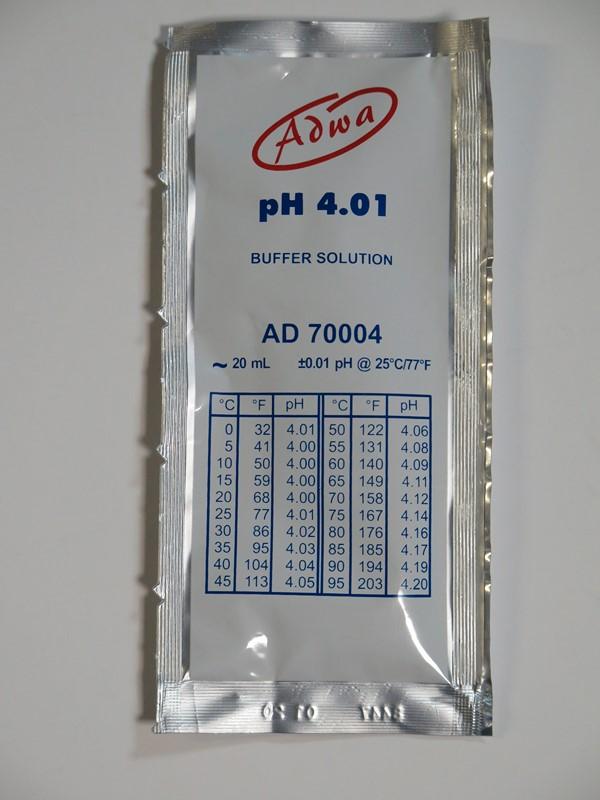 Kalibráló oldat 4.01 pH értékre 20ml ADWA AD70004