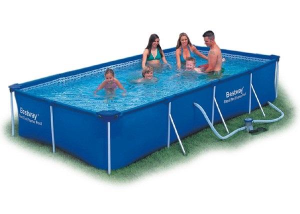 Bestway 400x211x81cm fémvázas medence 1,25m3/h vízforgatóval 56424