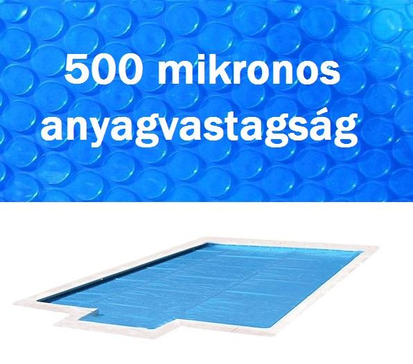 Blue 500 szolártakaró téglalap 5m x 10m medencéhez 500 mikron AS-172039