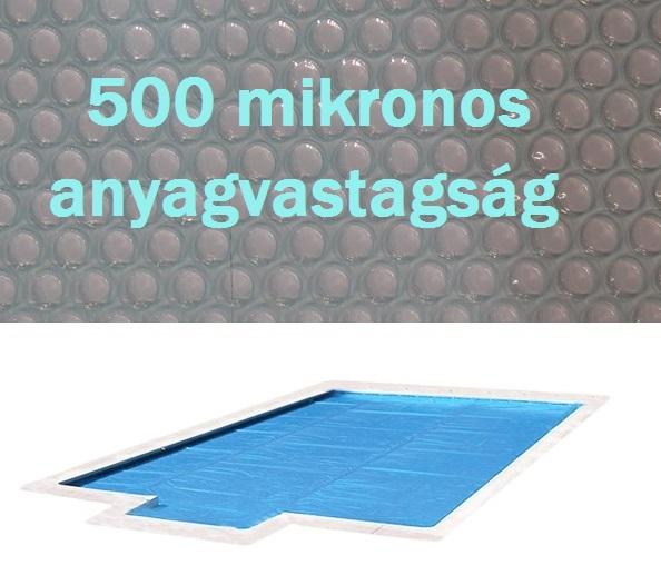 Crystal Blue 500 szolártakaró téglalap 6m x 12m medencéhez 500 mikron AS-172051