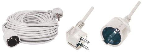 Hálózati hosszabbító 20m fehér NV 2-20/WH