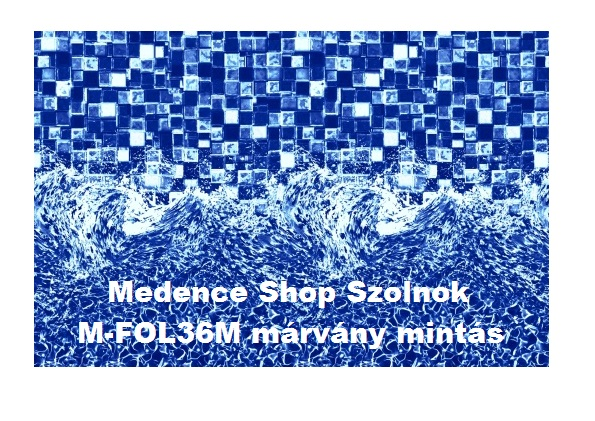 Medence pótfólia 366 x 100cm 0,2mm márvány mintával M-FOLIA36M