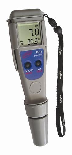 ADWA AD11 pH mérő műszer, 2db kalibráló oldat