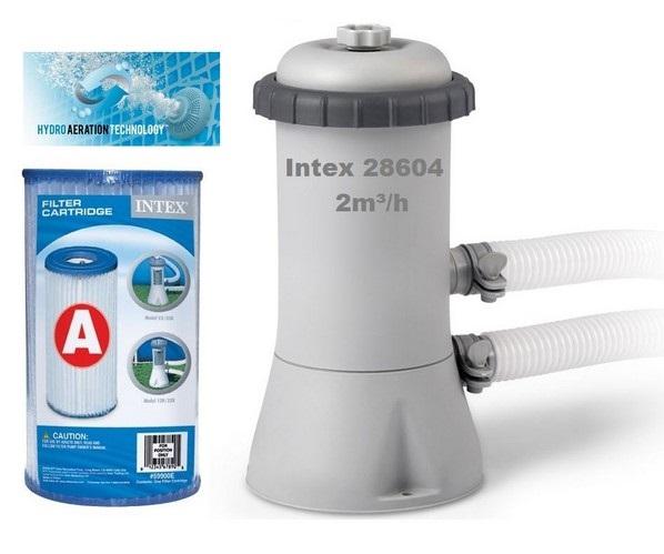 Intex medence vízforgató szivattyú 2m3/h 45W 28604