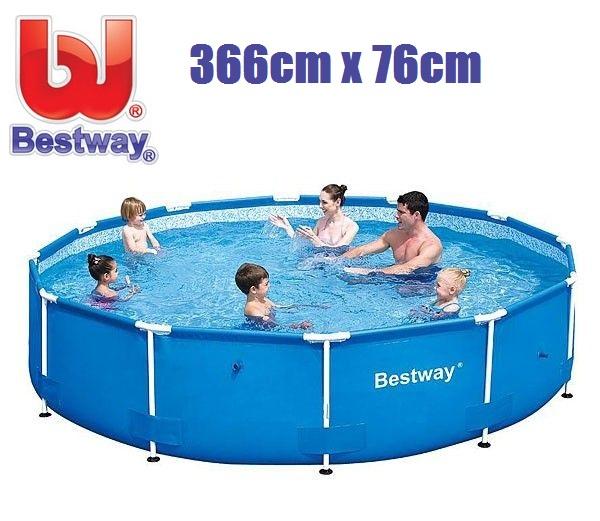 Bestway 366x76cm fémvázas medencetest BW 56706