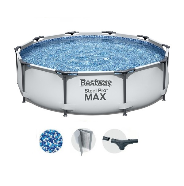 Bestway 305x76cm fémvázas medencetest BW 56406 Steel Pro Max