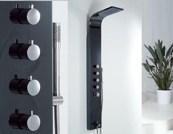 Wellis Mariner Black zuhanypanel 19x160cm