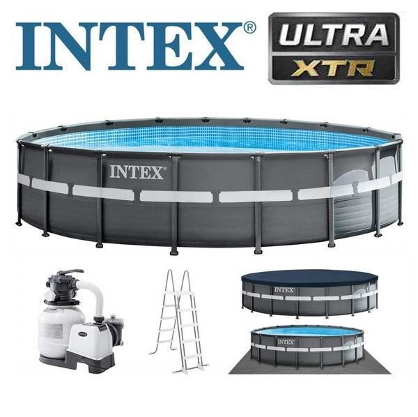 Intex 549x132cm Ultra Frame XTR fémvázas medence szett homokszűrővel 26330 NP