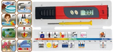 pH teszter és hőmérő műszer PHT 01