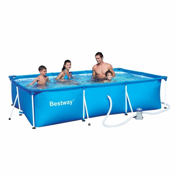 Bestway 300x201x66cm fémvázas medence szett 1,25m3/h vízforgatóval 56411 AMALFI FFA 679