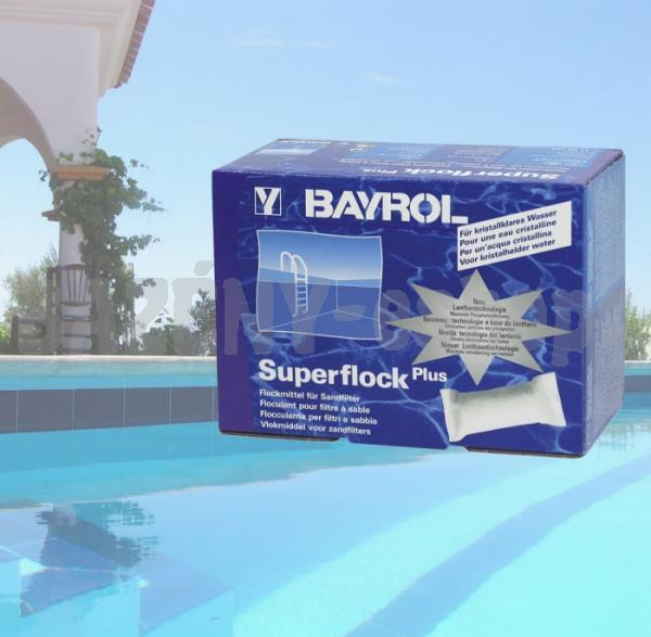 Bayrol Super Flock Plus 1kg pelyhesítő és profi alga eltávolító UV-BSUFLO1