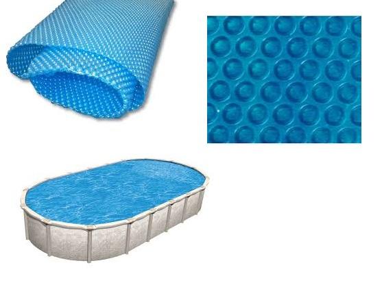 Blue 250 szolártakaró ovális 3,6m x 6,1m medencéhez 250 mikron AS-172016