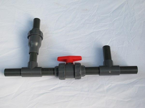 Szolár fűtés bekötéshez 32mm-es bypass készlet
