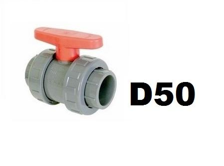 Golyóscsap D50 CH piros CCG-50CH